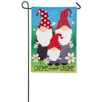 """12"""" x 18"""" Gnome Sweet Gnome Garden Flag"""
