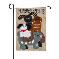 """12"""" x 18"""" Fur Ever Friends Garden Flag"""