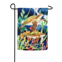 "12"" x 18"" 2 Sea Turtles Garden Flag"