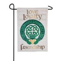 "12"" x 18"" Mini Celtic Love Loyalty Friendship Garden Flag"