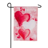 "12"" x 18"" Mini Hearts Garden Flag"