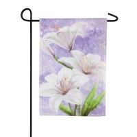 "12"" x 18"" Mini Easter Lilies Garden Flag"