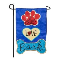 "12"" x 18"" Mini Live Love Bark Garden Flag"