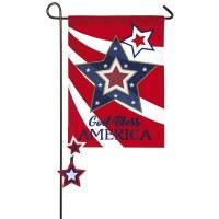 """12"""" x 18"""" Mini God Bless America Garden Flag"""
