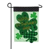 "12"" x 18"" Mini Happy St. Patricks Day Garden Flag"