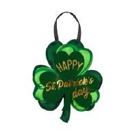 """14"""" Happy St. Patrick Shamrock Door Hanger"""