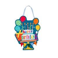 """13"""" Happy Birthday Door Hanger"""