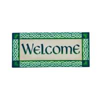 """10"""" x 22"""" Celtic Welcome Sassafras Doormat"""