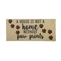 "10"" x 22"" House Is Not A Home Without Paw Prints Sassafras Doormat"