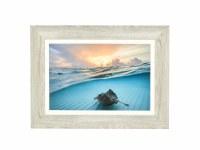 "24"" x 32"" Stingray Sunrise Gel Photo Framed"
