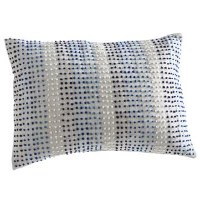 """14"""" x 20"""" White and Blue Dots Pillow"""