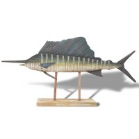 "24"" Sailfish On Wooden Stand"