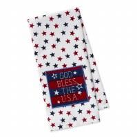 "18"" x 28"" God Bless USA Kitchen Towel"
