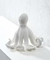 "9"" White Polystone Octopus"