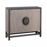 "36"" Light and Dark Gray 2 Door Cabinet"
