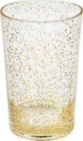 17 Oz Silver and Gold Glitter Cooler Glass