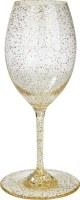 12 Oz Silver and Gold Glitter Wine Glass
