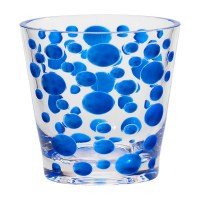 14 Oz Blue Satin Peark Rocks Glass