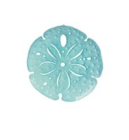 "7"" Blue Sand Dollar Metal Plaque"