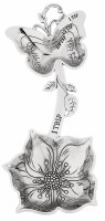 """5"""" Antique Silver Finish Buttlerfly and Flower Measuring Spoon"""