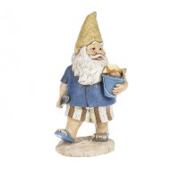 "10"" Beach Gnome With Bucket Of Shells"