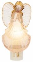 "6"" White Shell Angel Night Light"
