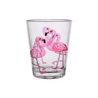 16 Oz Acrylic Flamingo Rocks Glass