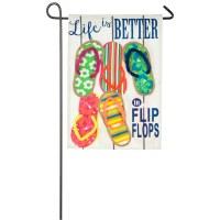"""12"""" x 18"""" Life is Better In Flip Flops Garden Flag"""