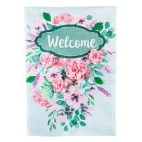 "12"" x 18"" Mini 3D Floral Welcome Garden Flag"