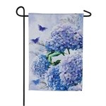 "12"" x 18"" Mini Hydrangeas Garden Flag"