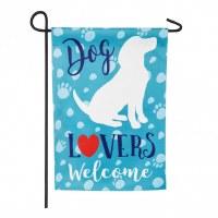 "12"" x 18"" Mini Dog Lovers Welcome Garden Flag"