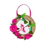 Hummingbird and Petunia Flowers Door Hanger