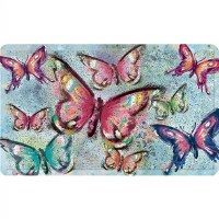 "30"" x 18"" Butterfly On Blue Door Mat"