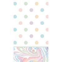 "8"" x 4.5"" Multipastel Dots Guest Towel"