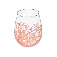 17 Oz Coral Coral Stemless Wine Glass