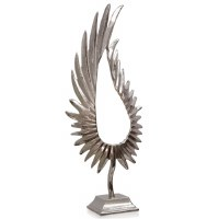"31"" Silver Wing Sculpture"