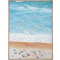 """48"""" x 36"""" Overhead Beach Scene 1 Framed Canvas"""