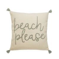 "22"" Square Beach Please Pillow"