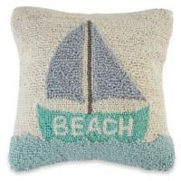 "12"" Square Sailboat Beach Pillow"