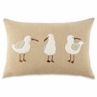 "16"" x 24"" 3 Shorebird On Pillow"