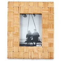 "4"" x 6"" Natural Woven Rattan Picture Frame"