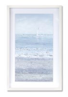 "23"" x 15"" 2 Sailboats In Distance Framed Print"