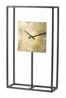 "21"" x 13"" Metal Open Rectangle Clock"