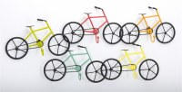 "28"" Multicolored 5 Bike Metal Wall Plaque"