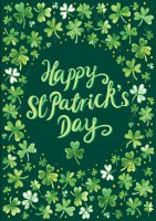 "12"" x 18"" Mini Happy St. Patrick's Day Garden Flag"