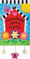 "12"" x 18"" Mini Grandkids Spoiled Here Garden Flag"