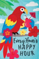 "12"" x 18"" Mini Happy Hour Garden Flag"