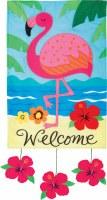 "12"" x 18"" Mini Welcome Flamingo Dangle Garden Flag"