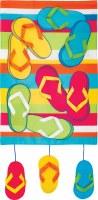 """12"""" x 18"""" Mini Multicolored Flip Flop Dangle Garden Flag"""