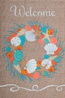 """12"""" x 18"""" Coral Reef Welcome Garden Flag"""